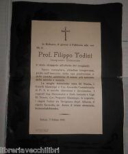 VECCHIA PRECE PIEGHEVOLE DEL PROF FILIPPO TODINI DI BALVANO 5 febbraio 1943 di