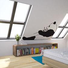 Panda comiendo ruidosamente Bambú Vinilo el arte de pared calcomanía Para Decoración Del Hogar / Diseño De Interiores /...