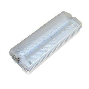 LED EMERGENCY LIGHT FITTING BULKHEAD 5.8 WATT IP65 MAINTAINED NON-MAINTAINED