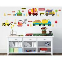 Children Transport Wall Stickers Nursery Kids Room Removable Mural Decal Decor