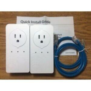 NEW--(LOT of 2) D-Link DHP-P338AV PowerLine AV 500 3-Port Pasthrough Adapter