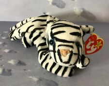 TY Beanie Babies Blizzard The Tiger 4th Gen.Swing Tag BD 1996 Retired 1998