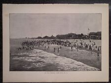 Beach Scene At Cape May New Jersey 1889 Old Antique Print