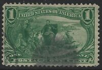 US Stamps - Sc# 285 - 1c Trans Mississippi Issue - Used                  (K-070)