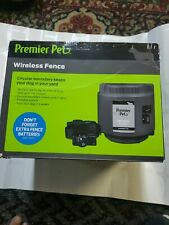 Premier Pet Wireless Fence  Portable, 1/2 Acre Coverage,***