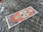 Handmade rug, Small rug, Doormats, Turkish rug, Vintage rug | 1,2 x 3,1 ft