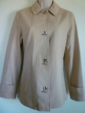 New George Womens XS 0 2 beige tan fully lined spring jacket trench coat