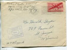 USA Censor field post air mail cover, US Army 5.5.1945