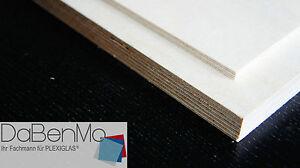 (39,71/m²) 12mm Birke Multiplex Holz Platte Zuschnitte Regalbretter nach Maß