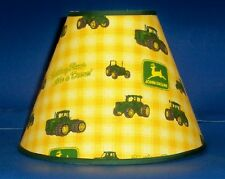 John Deere Yellow Check Handmade Lampshade Tractor Lamp shade
