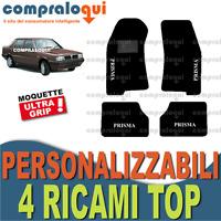 TAPPETINI PER LANCIA PRISMA 82-89 tappeti MOQUETTE SU MISURA + 4 RICAMI TOP