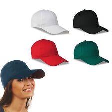 CAPPELLO CAPPELLINO berretto UNISEX BASEBALL CON VISIERA LUNGA 100% cotone NEW