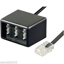Telefon / ISDN RJ45 zu TAE NFN Adapter- Verteiler-Weiche; 20 cm