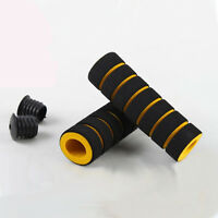 Yellow-black Cycling BMX MTB Bike Bicycle Handle Handlebar Soft Sponge Bar Grips