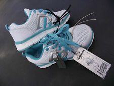BNWT Little Girls Sz 6 Rivers Doghouse Aqua White Lace Up Athletic Jogger Shoes