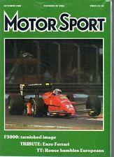 Motor Sport Magazine - October 1988