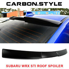 Unpainted V Style Roof Spoiler For Subaru WRX STI Sedan ABS 15-16