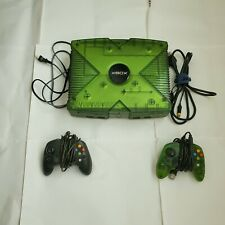 Original Xbox Halo Limited Edition Translucent Green Console & Two Controllers