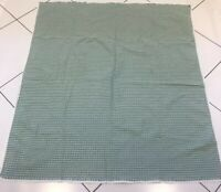 "VINTAGE RETRO GREEN AND WHITE CHECKED COTTON TABLECLOTH 54"" X 47"" PICNIC"