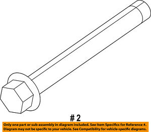 Ram CHRYSLER OEM 13-18 1500 3.6L-V6-Alternator Screw 6511077AA