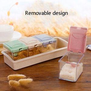 Kitchen Seasoning tank set Spice jar Storage box Sugar Bowl Saltcellar can NP SL