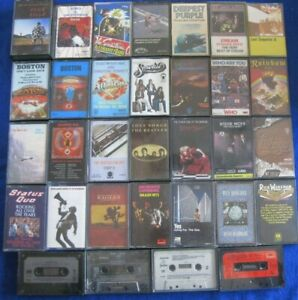 1970s Rock Cassette Tapes: Job Lot of 32 The Who/Pink Floyd/Genesis/Deep Purple