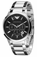 Emporio Armani Men's Watch AR2434 Black Dial Chronograph Quartz New in Box