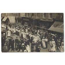 More details for bristol procession of ladies on busy street, rp postcard by plucknett, kingswood