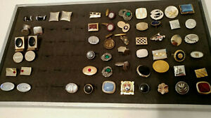 50 Piece Lot Vintage CUFFLINKS Singles & Pairs MIX n MATCH WEAR CRAFTS REPURPOSE