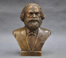 7'' German Great Communist Carl Marx Bust Bronze Statue