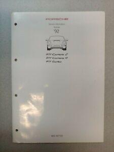 Utilisé Original Véritable 1992 Porsche 911 Turbo Service Information Technik