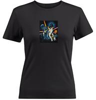 Juniors Girl Women Teen Tee T-Shirt Classic Star Wars Darth Vader Skywalker Leia