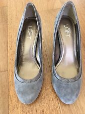 Ann Taylor Loft Pump Suede/snake leather gray 7:5 M