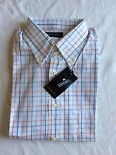 Emanuel Ungaro shirt, White with check ,Button down collar & cuff, Mens M