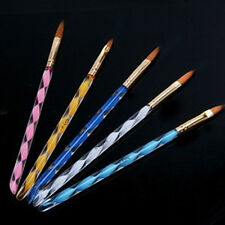 5Pcs New Acrylic 3D Painting Drawing UV Gel DIY Brush Pen Tool Nail Art Set jte