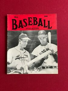 """1949, Stan Musial / Ted Williams, """"BASEBALL"""" Magazine (No Label) Scarce/Vintage"""