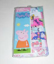 Peppa Pig Cotton Undies 7 Panties Underwear Underpants Toddler Girls 4T NIP