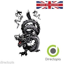 Large Waterproof 3D Traditional Black Dragon Temporary Tattoo Sticker Art