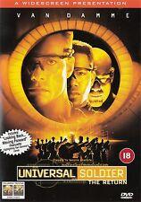 Universal Soldier The Return - Jean Claude Van Damme - NEW Region 2 DVD