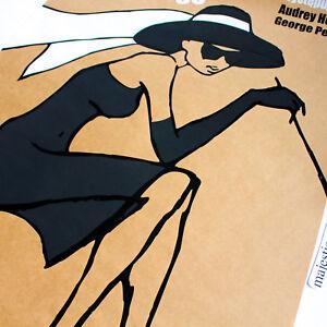 BREAKFAST AT TIFFANY'S AUDREY HEPBURN EUROPEAN ART LITHO POSTER SIGNED LTD 500
