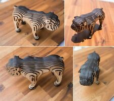 English Bulldog 3D Wooden Model