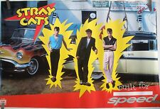 RARE THE STRAYCATS BUILT FOR SPEED 1982 VINTAGE ORIGINAL MUSIC POSTER