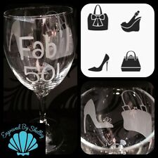 Shoe & Handbag Wine Glass Birthday Gift For Her Personalised 18/21/30/40/50/60