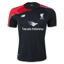 New Balance Liverpool Fc Official 2015 - 2016 Soccer Training Jersey Black