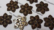 10 colgantes de flor de encantos Antiguo Bronce tono botón de la fabricación de joyas Artes 48 mm