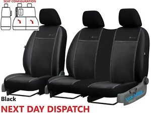 CITROEN DISPATCH 2017 - 2021 ART LEATHER & ALICANTE TAILORED FRONT SEAT COVERS