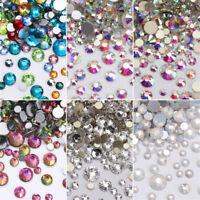 1728pcs Nail Art Rhinestones Glitter  Crystal Gems 3D Tips DIY Decoration