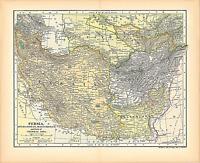 "Original 1903 Antique Map Pesia Afghanistan Bulchistan Asia Dodd Mead &Co.12X10"""