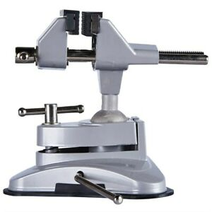 Rubber Suction Base Table Top Bench Vice 360 Tilts Adjustable Rotates Clamp Soft