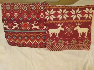 Christmas Pillow Covers. Set Of 2. 18x18